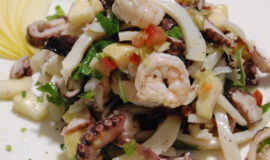 cold octopus salad