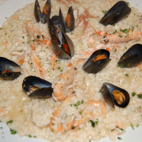 """carnaroli"" rice with fish sauce"