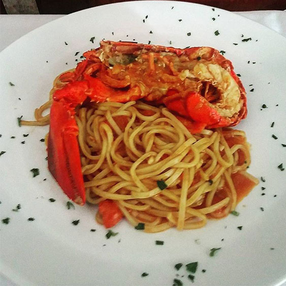 tonnarelli with lobster