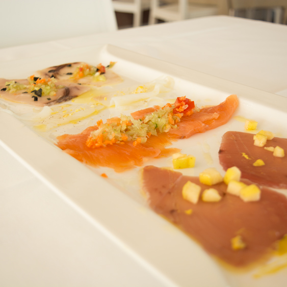 fish carpaccio