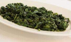 cooked seasonal greens